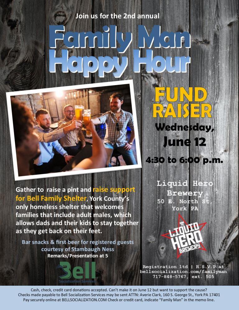 Family Man Happy Hour Returns – Bell Socialization